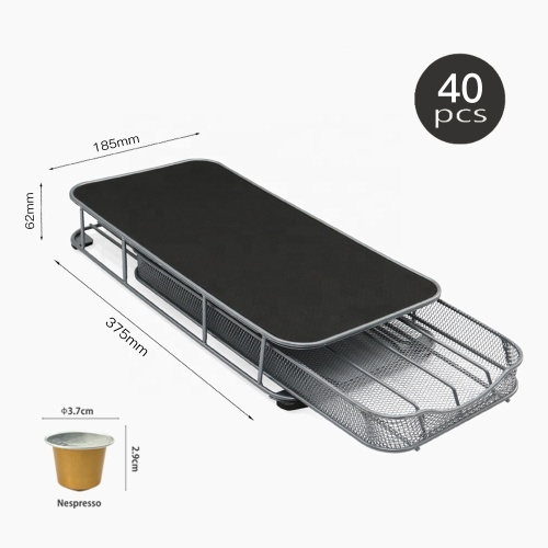 Wholesale K-Cup Pods Single Serve Mesh Coffee Pod Storage Drawer holder for Nespresso