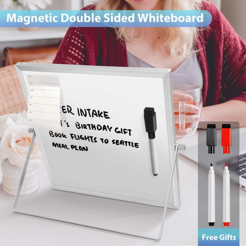 Amazon Hot Wideny Office Home Double Side Portable Small Dry Eraser Board Whiteboard With Markers Kids Magnetic White board