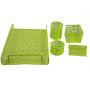 5 Pcs Stationery Powder Coated Custom Design Wire Mesh Office Document File Desk Organizer Set