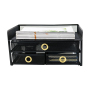 Wideny Office Monitor Stand Riser - Black Mesh Metal Desk Organizer With 2 Sliding Drawers for Office,Home