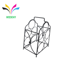 Home kitchen Storage Bar Display Rack Customized Wholesale Supermarket Supply Powder Coated Countertop Wine Rack
