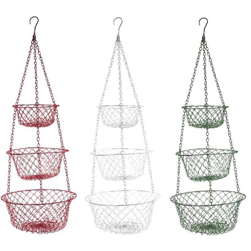 Newest Amazon Hot Sale Small Custom Design 3 Tier Vegetable Shelf Shop Display Folding Fruit Basket