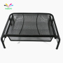 Home Office Black Metal Iron Mesh Heat Dissipation Adjustable Vertical Laptop Stand whit Drawer