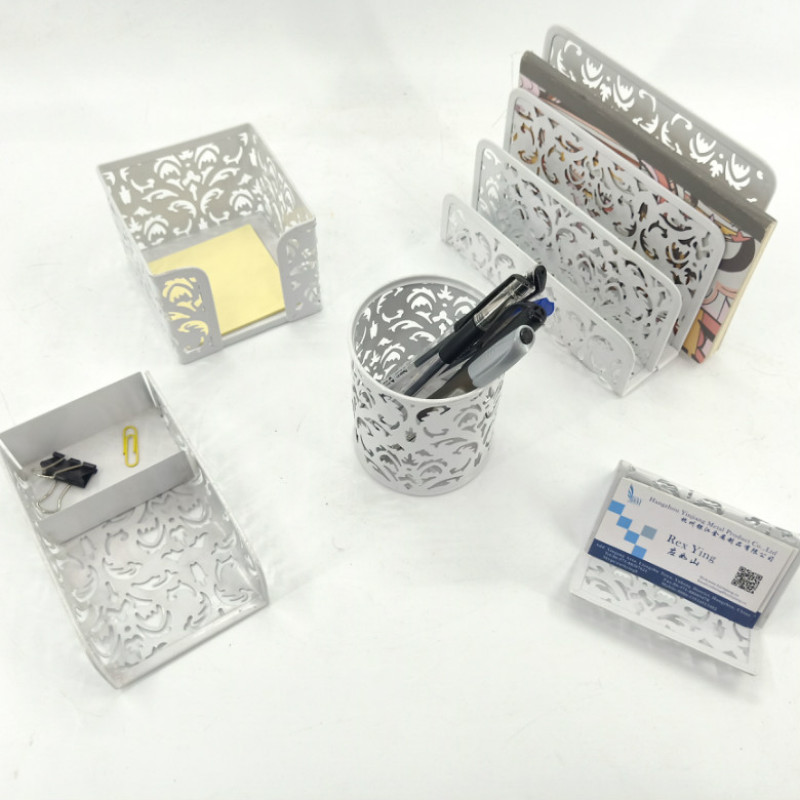Desk Organizer Memo Tray Pen Cup Modern office table accessories set