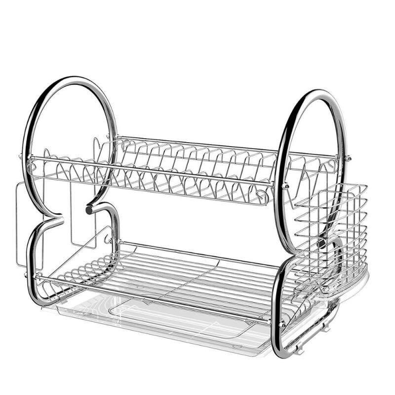 Customized Multi-function Kitchen Bowl Plate Organizer 2 Tier Metal Kitchen Dish Rack