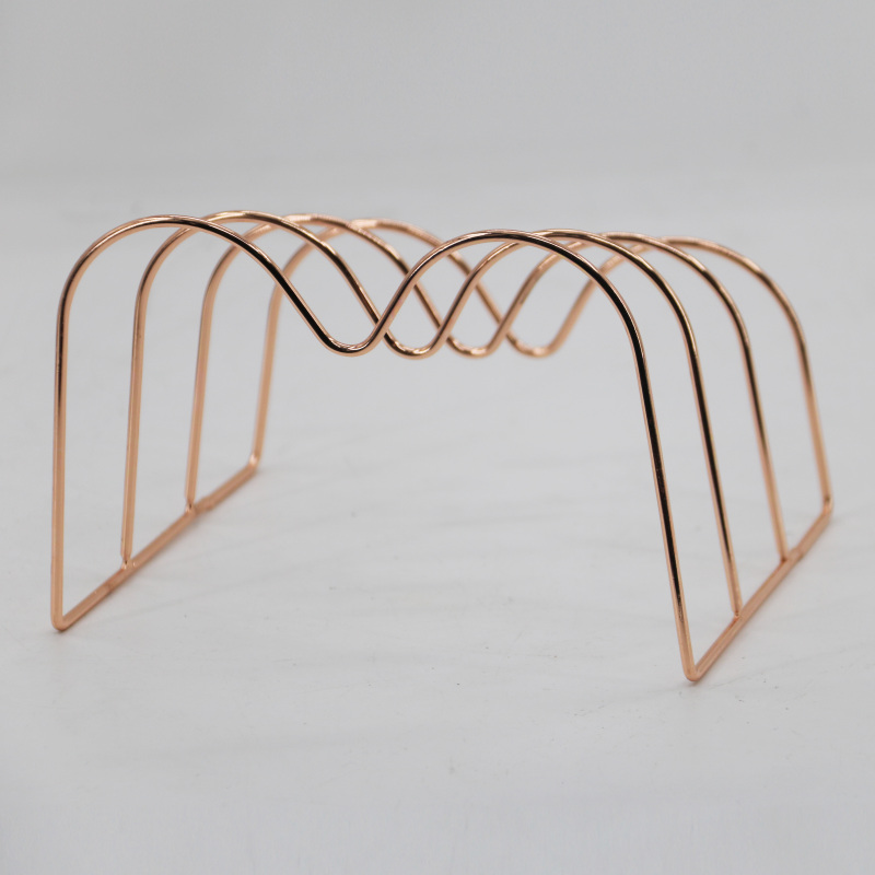 Office Supplies Desk Accessories for Women Rose Gold 5 Piece Wire Rose Gold Desk Organizer Set For Home wall file organizer
