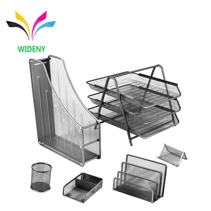 High quality wholesale suppliers china manufacturer new design black iron metal mesh school file office stationery