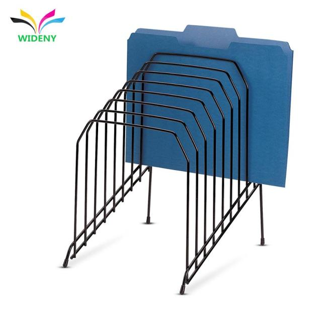 Wholesale customization of high quality black 2 Tier Wire Magazine Rack holder rack display