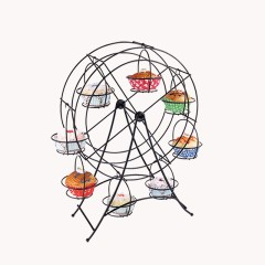 Party Wedding Afternoon Tea Decorative Shaped Wheel Metal Rotating Cupcake Stand
