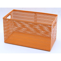 wholesale supply  home office mesh fancy  bread toy desktop metal storage basket