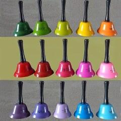 Custom Design Children Educational Percussion Toys Musical Instruments Metal Hand Bells Set For Children