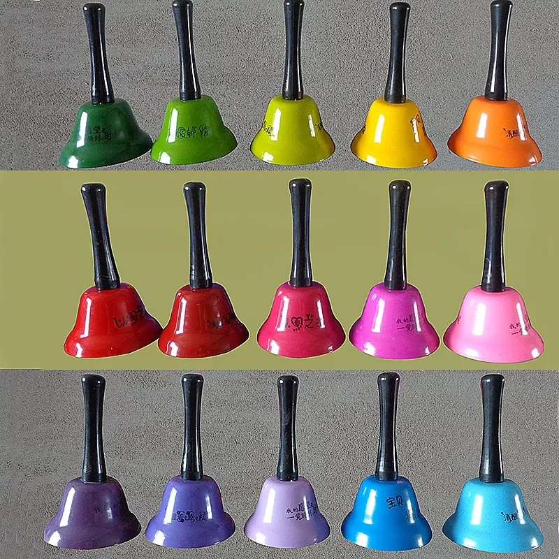 Custom Design Children Educational Percussion Toys Musical Instruments Metal Hand Bells Set For Children