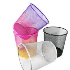 Wideny custom medium-sized office home  paper trash garbage round metal mesh waste bin