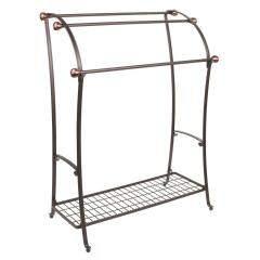 Wholesale supplies bathroom wall mounted door black metal stainless steel towel rack