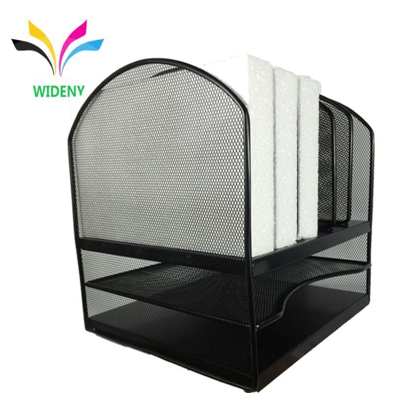Supply office school metal mesh wire 3 tier 6 Vertical section  stationery  Desktop File Organizer Sorter