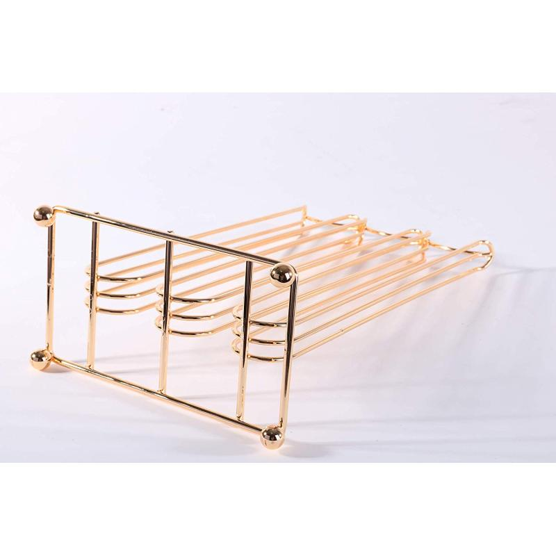 Home office cafe supply coffee pod rack powder coated irom metal wire rose gold 42 coffee capsule carousel holder