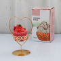 Cute Decorative Heart Shape Iron Gold Cupcake Stand For Afternoon Tea Wedding