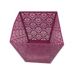 Home or Office Metal square waste Can paper Wastebasket Garbage Container Bin for Bathrooms Metal trash basket