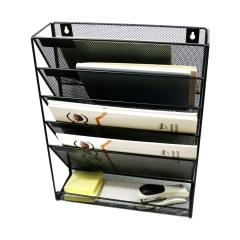 Wideny Office school home household storage wire metal mesh mounted hanging file wall organizer for office holder