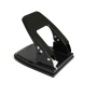 Wideny Office Supplies Durable Black Metal 5mm Hole Two Hole Paper Puncher For Stationery Accessories