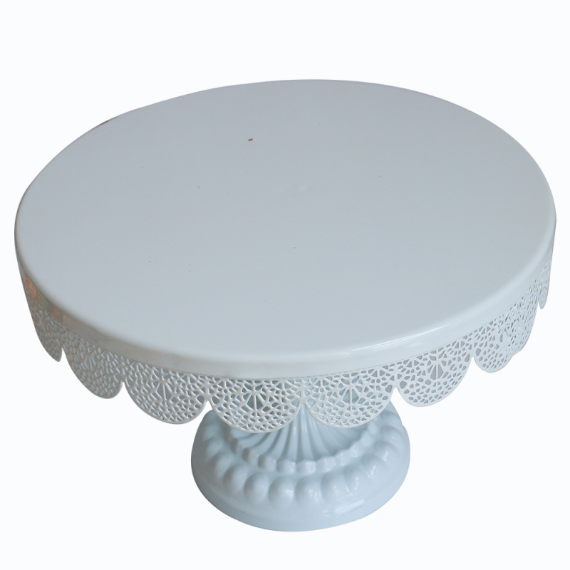 WIDENY home organization Party decorating fancy round pink metal plate wedding multi-color cake stand for holder cake