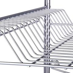 Amazon Hot Sale Eco-Friendly Stainless Steel Folding 3 Tier Dish Rack for Kitchen Counter Top