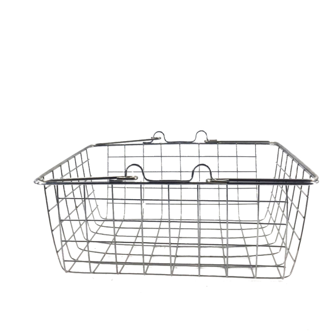 portable square vegetable fruit holder Supermarket  metal hand carry Shopping Basket