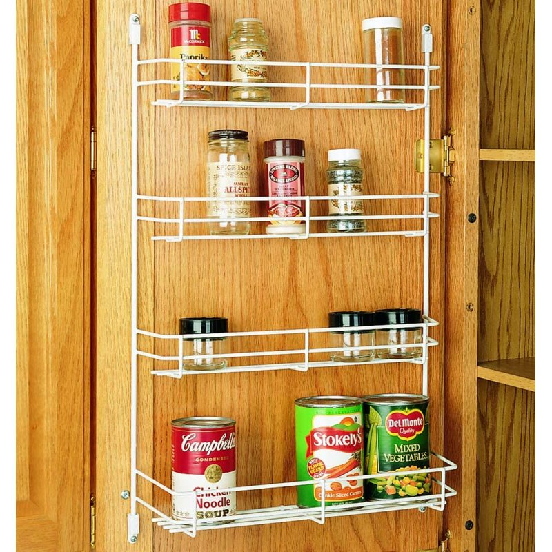 Wideny  Home Storage Organizer3 tier  Metal wire Iron Kitchen wall mount display jar spice rack