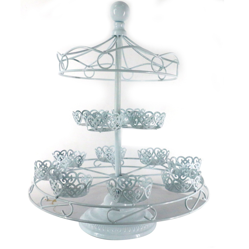 High quality custom Metal wire small ferris wheel cakes display wedding Accessories Dessert Serving rotating cake stand