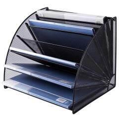 Office School household desktop table 6 Compartment iron Mesh Desk Organizer for holder files letter document Magazine