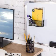 Wideny office stationery  whiteboard wall-mounted metal mesh magnetic pen holder