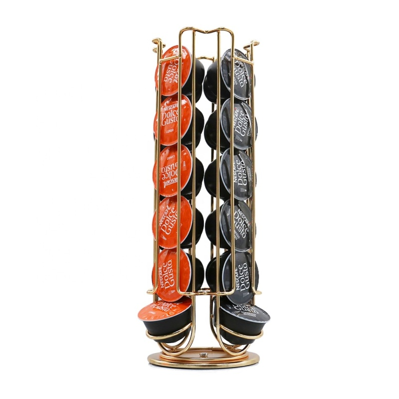 Rotate 360 degrees  24 Pods Nespresso coffee capsule storage rack For coffee holder