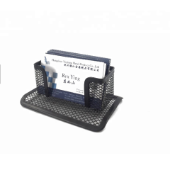 office Desktop organizer metal Business Card Holder Stand