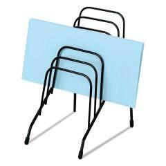Wideny Office Desk Desktop 6 compartment Metal Wire incline black Bookshelf Magazine file sorter organizer
