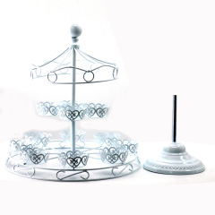 Wideny new design free sample wedding party banquet supply metal steel  merry-go-round ratating decorative cake cupcake stand