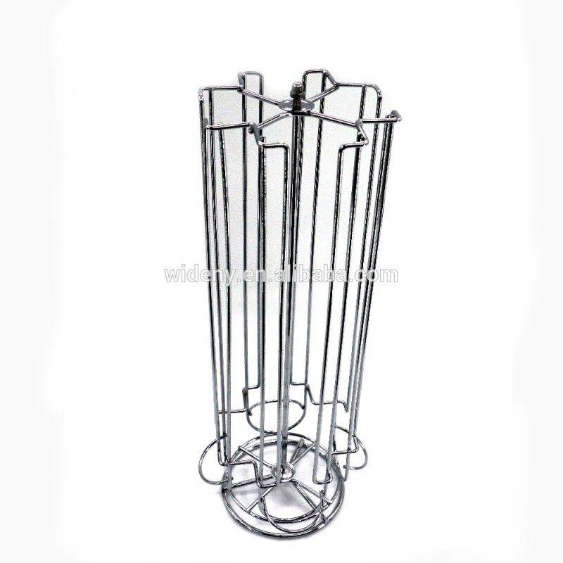 Wholesale custom kitchen black Iron nespresso coffee cup capsule holder Revolving Capsules Rack Carousel for k cup pod