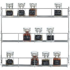 Wholesale Home Kitchen 3 Tiers Wall Mounted Black Metal Wire Mesh Spice Storage Holder