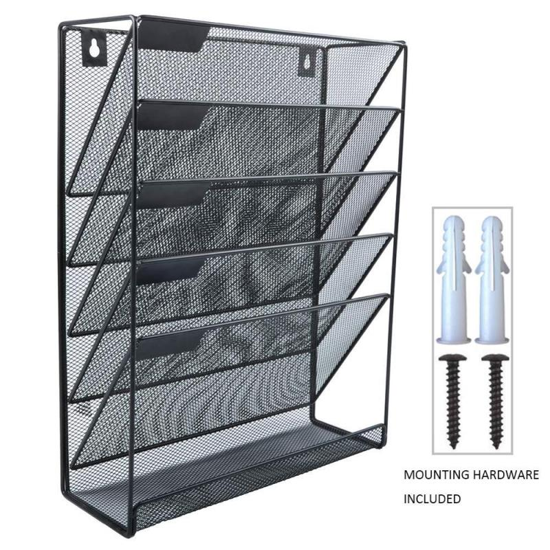 Wideny factory Office desk wire mesh file storage metal DOOR desktop Hanging Wall mounted File folder Organizer