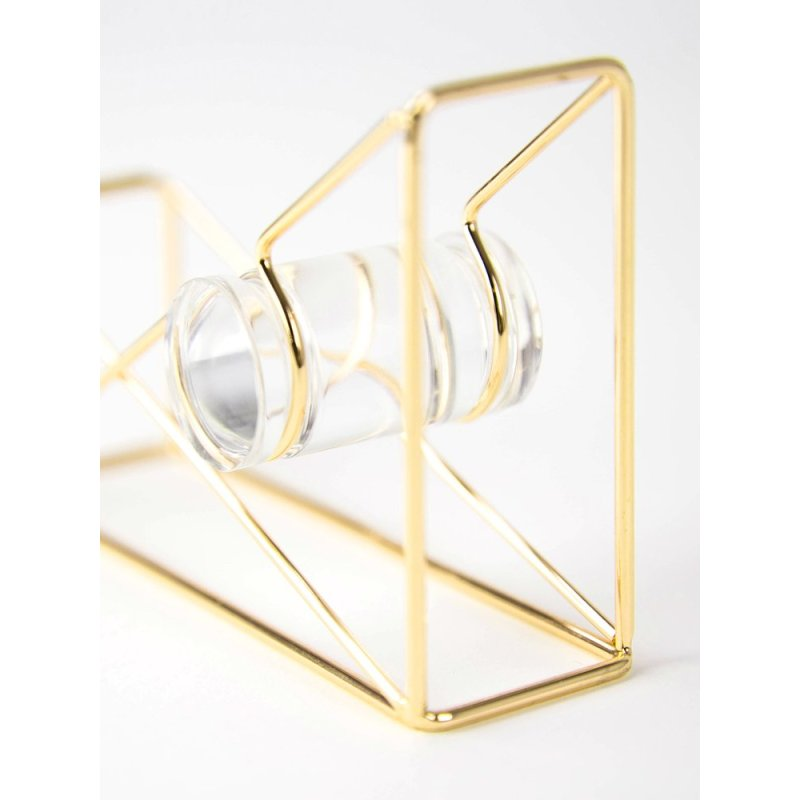 Wideny office suppliers high quality wire metal Rose gold Desk Desktop Tape Dispenser