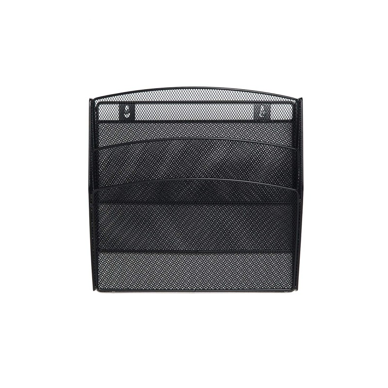 Free sample office stationery metal mesh wire 3 layer space saving hanging wall file organizer document storage box