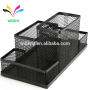 Office and School 4 compartment Black Metal Mesh Desk Table Organizer