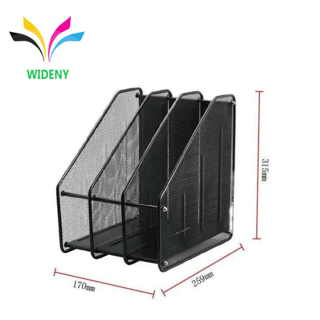 Wholesale Metal Mesh Office Supplies Desk File Organizer Magazine Holder