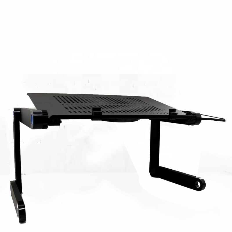 Best quality cheap foldable 360 adjustable portable laptop desk with cooling fan