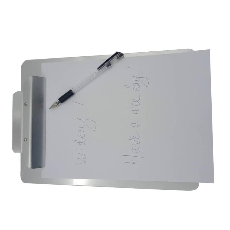 Free Sample Supply Metal Aluminum Storage A4 Horizontal File Wall Mounted Clipboard Clips for Office