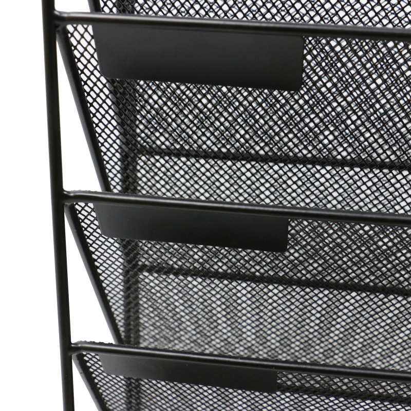 Free Sample school office black metal iron wire mesh desktop or wall mounted file wall organizers for hanging document letter