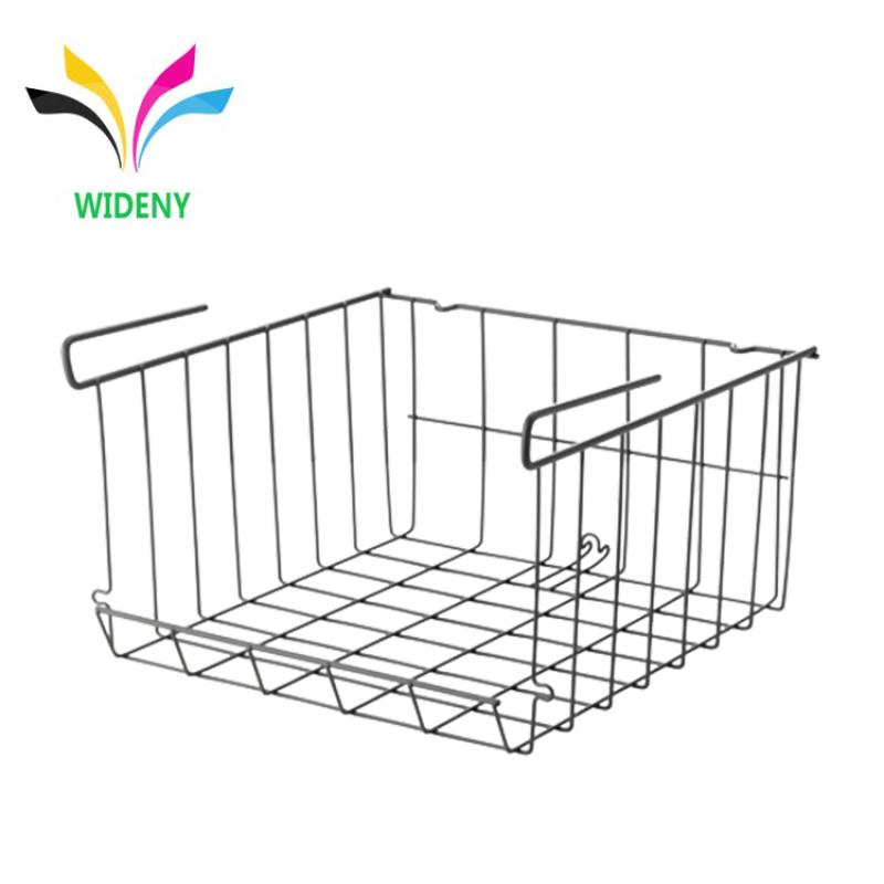 Multifunctional Wire Lightweight Metal Organizer Rack Under Shelf Storage Basket