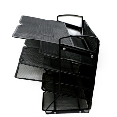Wideny metal mesh 3 Tier Stackable Desk Document Letter Organizer file Trays