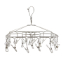 Hangers For Socks with Twenty Clips Wind-Proof Space-Saving Clothes Hangers for College Dorm