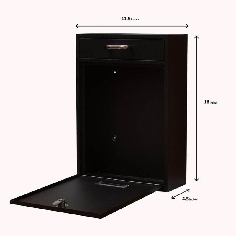 Amazon Hot Sale Aluminium Smart Custom Outdoor Locking Acrylic Free Standing Mailbox for Apartments