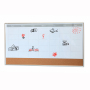Office and School Supplies Aluminium Frame Free Stand Double-use Schedule Magnetic Dry erase Whiteboard Markers